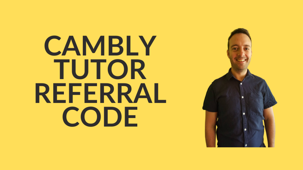 Cambly tutor referral code